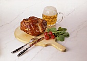 Pork Knuckle with Beer & Radishes