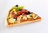 A Slice of Pizza with Vegetables and Chili Pepper
