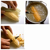 Peeling (Shucking) an Ear of Corn