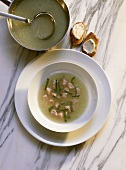 Cold Cucumber Soup with Salmon