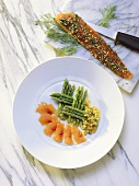 Marinated Char with Asparagus