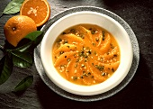 Orange Soup with Pistachio