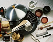Wok and Utensils for Asian Cooking