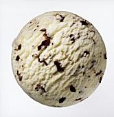 A scoop of stracciatella ice cream