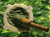 Pesto in a Mortar