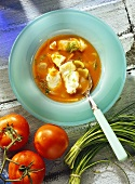 Tomato Soup with Haddock