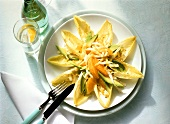 Chicory Salad with Orange and Avocado Slices