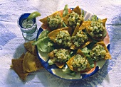 Tacos with Potato Olive Stuffing