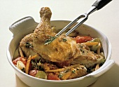 Serving Provencal Chicken from a Bowl