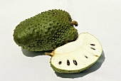 Soursop, cut open