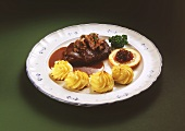 Venison with Gravy and Potatoes