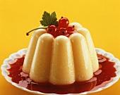 Vanilla Pudding on Currant Sauce