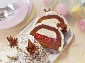 Cream cheese pastry with cherries