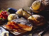 Snacks on a wooden Platter