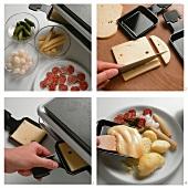 Preparing raclette