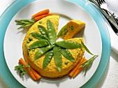 Carrot Terrine with Green Peas