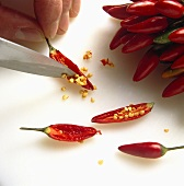 Seeding Red Chili Peppers