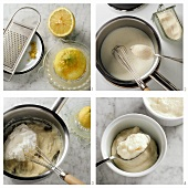 Preparing lemon blancmange