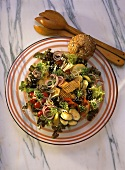 Tofu Salad with Vegetables & Sprouts