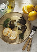 Stuffed Wine Leaves with Lemon Sauce