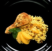 Breaded Chicken Leg with Curry Rice