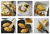 Preparing marinated chicken breast