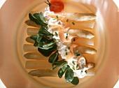 White Asparagus with Smoked Salmon Sauce