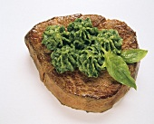 Steak with spinach puree