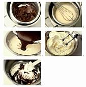 Preparing mousse au chocolat