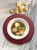 Leek Soup with Ravioli