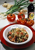 Whole grain Pasta with Vegetable Soy Sauce