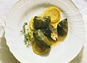 Grape Leaves with Ground Meat Filling