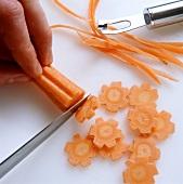 Making vegetable flowers