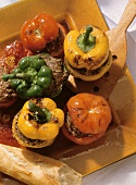 Stuffed Bell Pepper and Tomatoes
