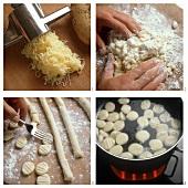 Preparing gnocchi di patate