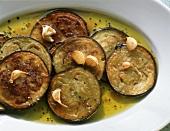 Melenzane fritte (Marinierte Auberginenscheiben, Italien)