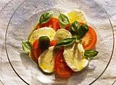 Insalata caprese (tomatoes with mozzarella, Italy)