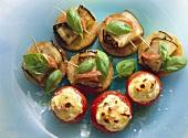 Stuffed Tomatoes & Eggplant Rolls