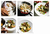 Preparing seafood and fish in aspic