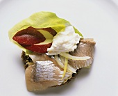 Smorrebrod with Herring in Sour Cream