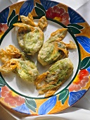 Deep fried stuffed Zucchini Blossoms