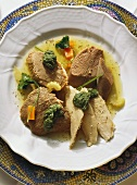 Bollito misto (boiled meat with green sauce, Italy)