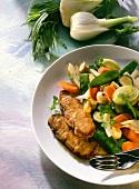 Saddle of Pork Steak with assorted Vegetables