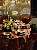 French Table Scene; Table Settings