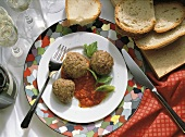Polpette (meatballs with pepper sauce, Italy)