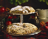 Advent stollen slices
