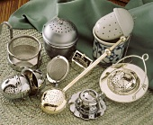 Various tea strainers and tea infusers