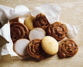 Assorted Pastries in Paper