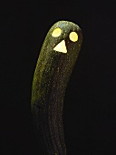 Courgette face lit from inside