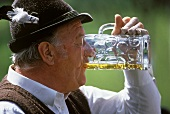 Bavarian drinking a Litre of Beer